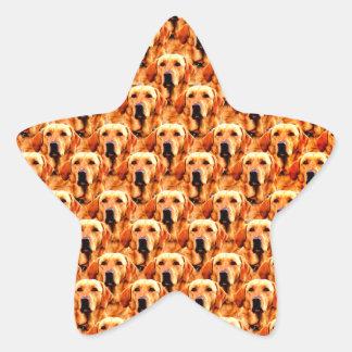 Cool Dog Art Doggie Golden  Retriever Abstract Star Sticker