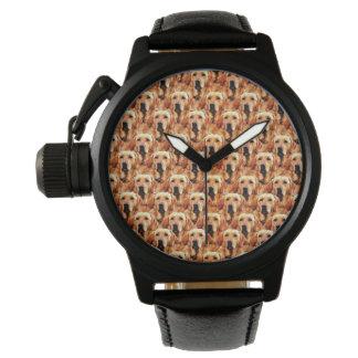 Cool Dog Art Doggie Golden Retriever Abstract Watches