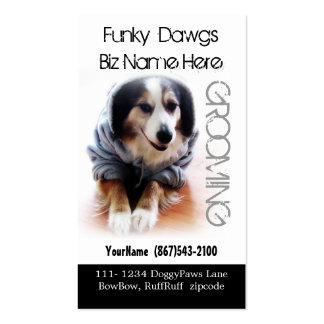 Cool Dog Grooming Aussie in Hoodie Pack Of Standard Business Cards