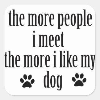 Cool dog lover designs square sticker