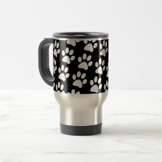 Cool Dog Paws Pattern Travel Mug