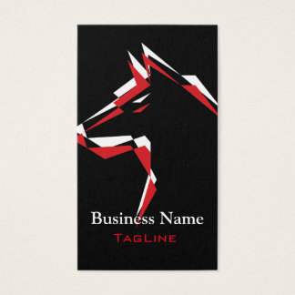 cool dog Red+White Business Card
