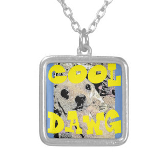 COOL DOG SILVER PLATED NECKLACE
