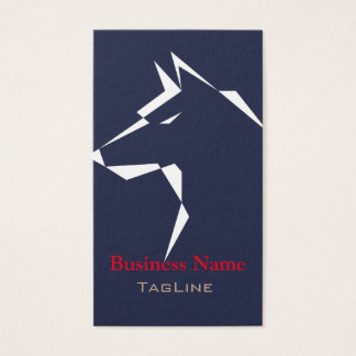 cool dog White on MidnightBlue Business Card