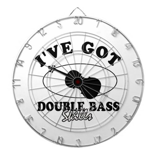 Cool double bass  musical instrument designs dartboard