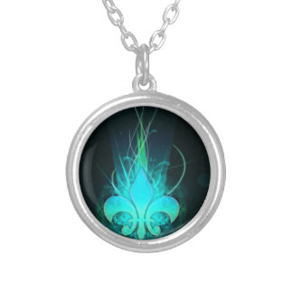 cool draw flower lis necklace