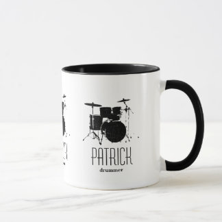 cool drums personalized mug