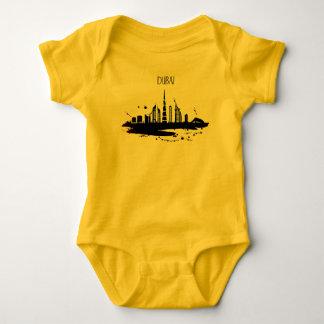 Cool Dubai skyline view sketch design Baby Bodysuit