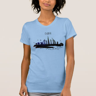 Cool Dubai skyline view sketch design T-Shirt