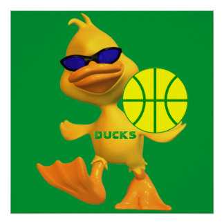 Cool Ducks Basketball Poster