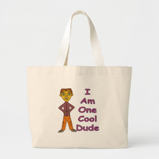 Cool Dude Large Tote Bag