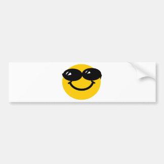 Cool dude smiley bumper sticker
