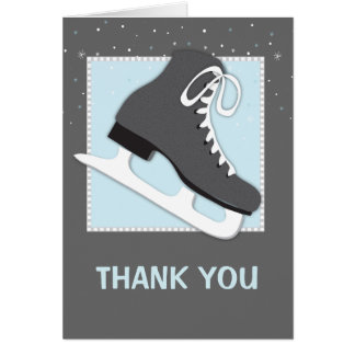 Cool Dudes Ice Skating Thank You Notecard