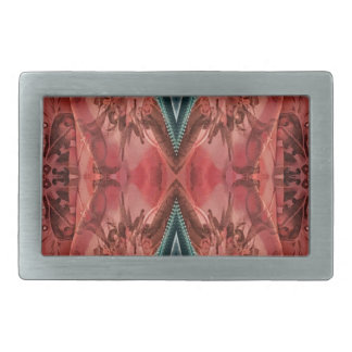 Cool Dusty Rose Artistic Pattern Rectangular Belt Buckle