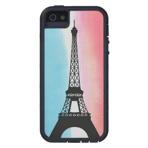 Cool Eiffel Tower Paris colourful background iPhone 5 Covers