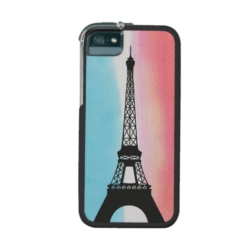 Cool Eiffel Tower Paris colourful background Cover For iPhone 5/5S