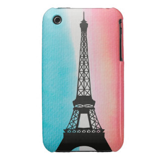 Cool Eiffel Tower Paris iron colourful background iPhone 3 Case