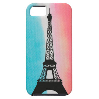 Cool Eiffel Tower Paris iron colourful background iPhone 5 Cases