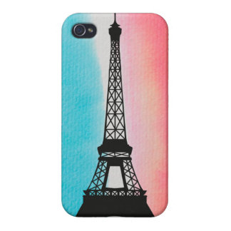 Cool Eiffel Tower Paris iron colourful background iPhone 4/4S Cover