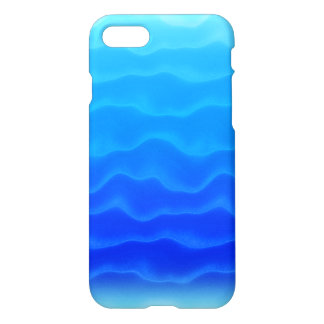 Cool Electric Blue Wave Pattern iPhone 7 Case