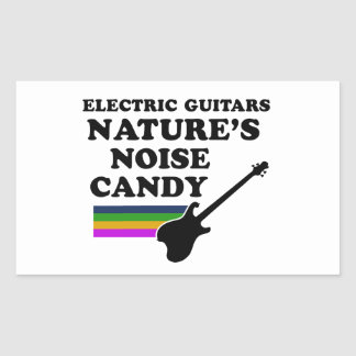 Cool electric guitar  musical instrument designs rectangle sticker