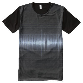 Cool Electrocardiogram Design Black Blue All-Over Print T-Shirt