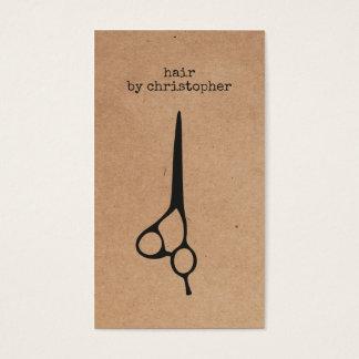 Cool Elegant Kraft Paper Black Scissor Hairstylist