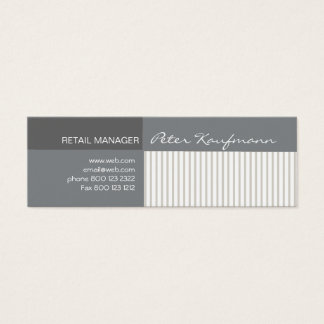 Cool Elegant Stripes Pattern Abstract Mini Business Card
