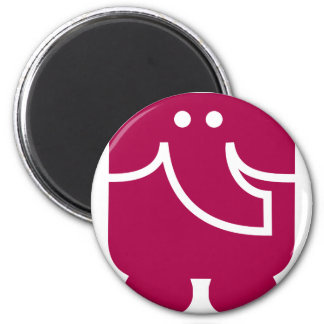 Cool Elephant icon design 6 Cm Round Magnet