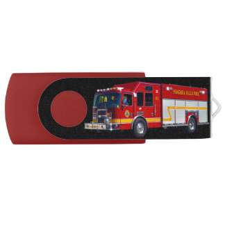 Cool Emergency Vehicle Fire Engine Fire-truck USB Flash Drive