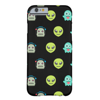 Cool Emoji Alien Ghost Robot Face Pattern Barely There iPhone 6 Case