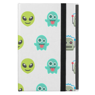 Cool Emoji Alien Ghost Robot Face Pattern iPad Mini Case