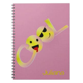 Cool Emoji (change name) Spiral Notebook