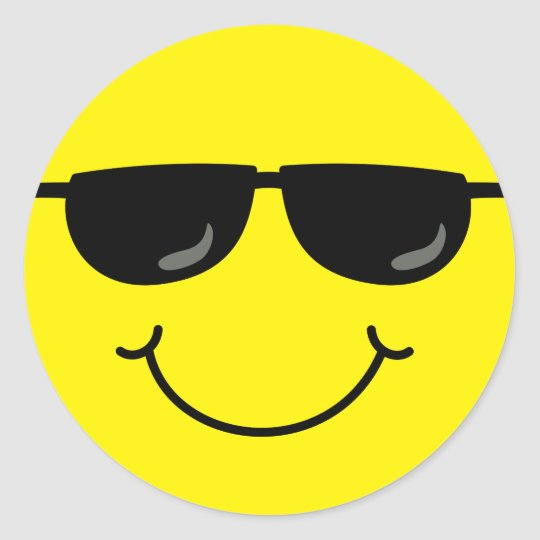 Sunglasses Cool Emoji Magnet Decal Perfect for Car or Truck