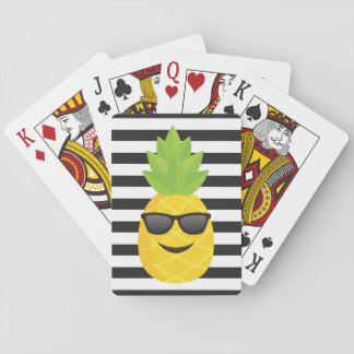 cool emoji pineapple playing cards