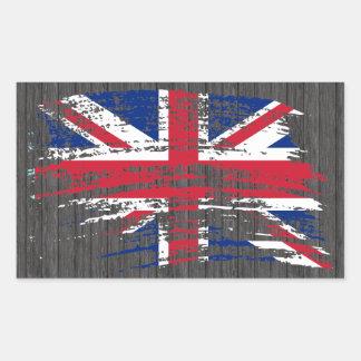 Cool English flag design Rectangular Sticker