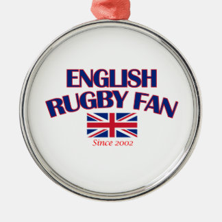 cool English rugby fan DESIGNS Silver-Colored Round Decoration