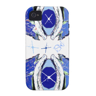 Cool Extreme Sport iSki Blue & White iPhone 4 Case