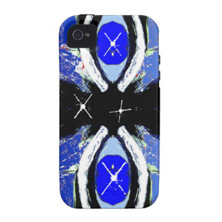 Cool Extreme Sports Art Black & Blue iPhone 4 Case