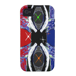 Cool Extreme Sports Red Black & Blue iPhone 4 Case