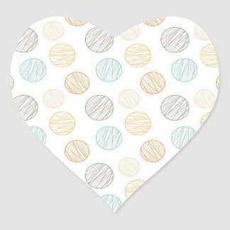 Cool Faded Colorful Balls of Yarn Pattern Gifts Heart Sticker