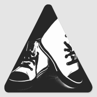 Cool Fashion Shoes trainers Style Design Triangle Sticker