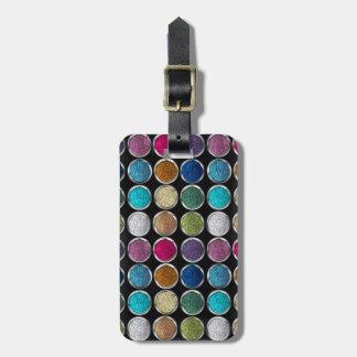 cool Fashionable colourful glitter eye shadows Luggage Tag