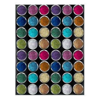 cool Fashionable  colourful glitter eye shadows Postcard