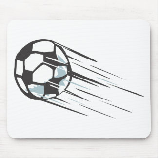 Cool Fast Speedy Soccer Ball with Trailing Mouse Pad