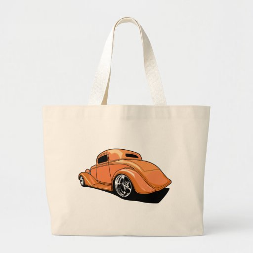 Cool Fat Fendered Street Rod Tote Bag