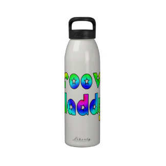 Cool Fathers Day Hip Dads Birthdays Groovy Daddy Water Bottles