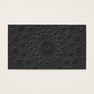 Cool Faux Embossed Black Business Card