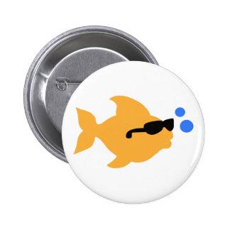 COOL FISH MINI 6 CM ROUND BADGE