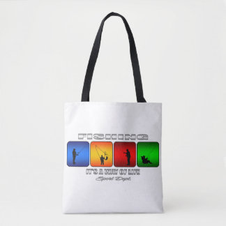 Cool Fishing It Is A Way Of Life Tote Bag